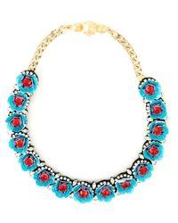 Shourouk   Blue 'daisy' Necklace   Lyst
