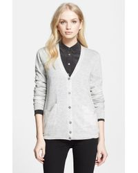 Equipment | White 'sullivan' V-neck Cardigan | Lyst