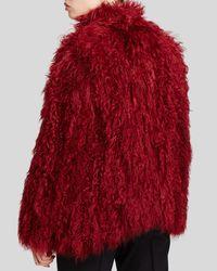 Maximilian | Red Knitted Kalgan Lamb Vest - Bloomingdale's Exclusive | Lyst