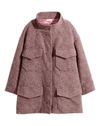 H&M | Pink Wide Coat | Lyst