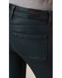 Burberry - Blue Skinny Fit Low-rise Deep Indigo Jeans Teal - Lyst