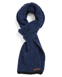 Polo Ralph Lauren | Blue Knit Wool Scarf for Men | Lyst
