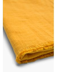 Mango - Yellow Cotton Scarf - Lyst