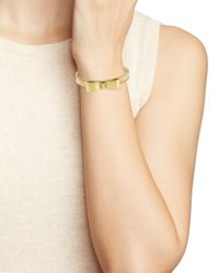 kate spade new york - Metallic Perfectly Placed Bow Hinge Bangle - Lyst