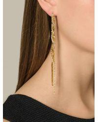 Puro Iosselliani   Metallic Tangled Long Earrings   Lyst