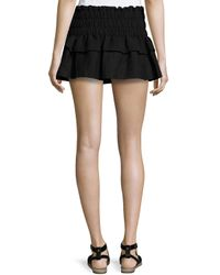 Étoile Isabel Marant - Black Krista Ruffled Linen Mini Skirt - Lyst