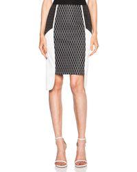 Jonathan Simkhai | White Diamond Poly Jacquard Layer Skirt | Lyst