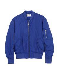 Acne Studios - Blue Encore Struct Cotton-blend Bomber Jacket - Lyst