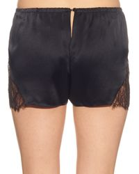 Three Graces London - Black Drums In The Night Silk Shorts - Lyst