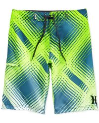 Hurley - Blue Ray Printed Board Shorts for Men - Lyst