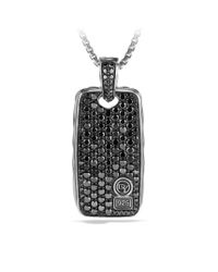 David Yurman - Pavé Reversible Tag with Black Diamonds for Men - Lyst