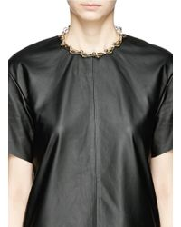 Joomi Lim | Metallic 'vertigo' Geometric Metal Fretwork Hinged Necklace | Lyst