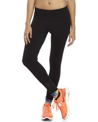 90 Degree By Reflex | Black Mesh Hem Performance Leggings | Lyst