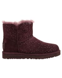 UGG Purple Mini Bailey Button Bling Constellation