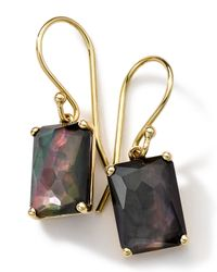Ippolita - Metallic 18k Gold Rock Candy Gelato Black Shell Earrings - Lyst