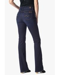 7 For All Mankind Slim Illusion Kimmie Bootcut In Tried & True Blue