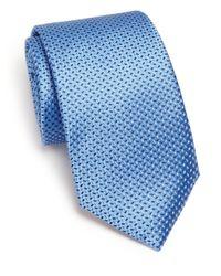 Eton of Sweden | Blue Chevron Dash Silk Tie for Men | Lyst