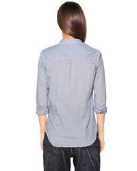 Golden Goose Deluxe Brand - Blue Cotton Gingham Shirt - Lyst