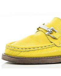 River Island - Bright Yellow Snaffle Loafers for Men - Lyst