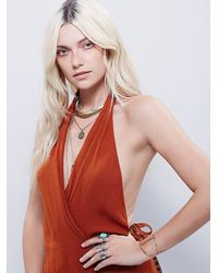 Free People | Orange Drapes The Shape Dress | Lyst