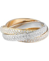 Cartier | Metallic Trinity De 18ct White, Pink And Yellow-gold Diamond Ring | Lyst