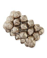 Nest | Metallic African Silver Bead Stretch Bracelets | Lyst