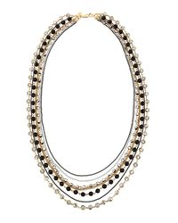 Lydell NYC - Multicolor Mixed-Metal Multi-Row Necklace - Lyst