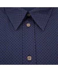 Paul Smith | Blue Men's Tailored-fit Navy Polka Dot Print Shirt for Men | Lyst