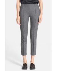 Rag & Bone - Gray 'polly' Crop Wool Pants - Lyst