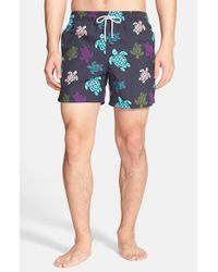 Vilebrequin | Blue 'Moorea' Turtle Print Swim Trunks for Men | Lyst
