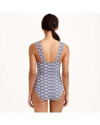 J.Crew | Blue Indigo Batik String Bikini Top | Lyst