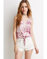 Forever 21 | Pink Tie-dyed Tank | Lyst