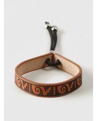 TOPMAN | Brown Printed Leather Bracelet* for Men | Lyst