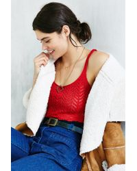 Kimchi Blue | Red Pointelle Cropped Tank Top | Lyst