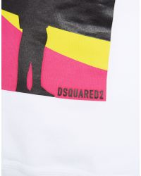 DSquared² | White Dean Fit Sweatshirt for Men | Lyst