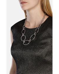 Karen Millen - Metallic Over Size Chain Necklace - Lyst