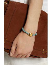 Iam By Ileana Makri - Blue Kompoloi Gold-Plated, Jade And Cotton Bracelet - Lyst