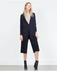 Zara | Blue Wrap Jacket | Lyst