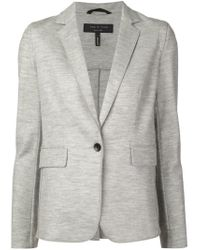 Rag & Bone - Gray Single-Button Wool Blazer - Lyst