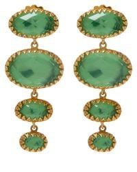 Larkspur & Hawk | Green Small Gold Topaz Tessa Earrings | Lyst