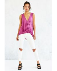 Silence + Noise - Purple Surplice Tank Top - Lyst