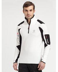 bf41cc34 RLX Ralph Lauren Halfzip Fleece Pullover Jacket in White for Men - Lyst