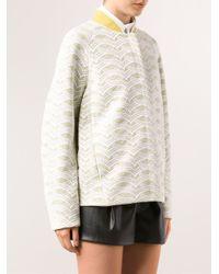 O'2nd - White Lace Bonded Jacket - Lyst