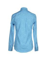 KENZO - Blue Shirt for Men - Lyst