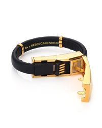 Rebecca Minkoff | Black Iphone Lightning Cable Bracelet | Lyst