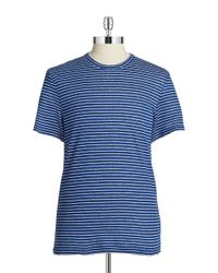 Michael Kors | Blue Striped Linen Tee for Men | Lyst