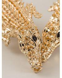 Giuseppe Zanotti - Metallic Crocodile Necklace - Lyst