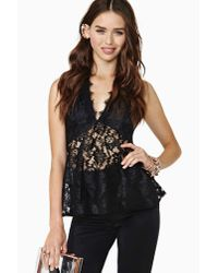 Nasty Gal - Black Seraphina Lace Halter Top - Lyst