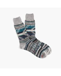 J.Crew | Gray Chup Katsina Socks for Men | Lyst