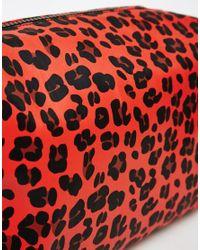 ASOS | Multicolor Oversized Leopard Make Up Bag | Lyst
